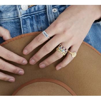Opal Bezel Ring 14KY