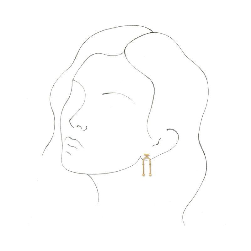 Gallery Designs 14KY Mobile Dangle Earrings