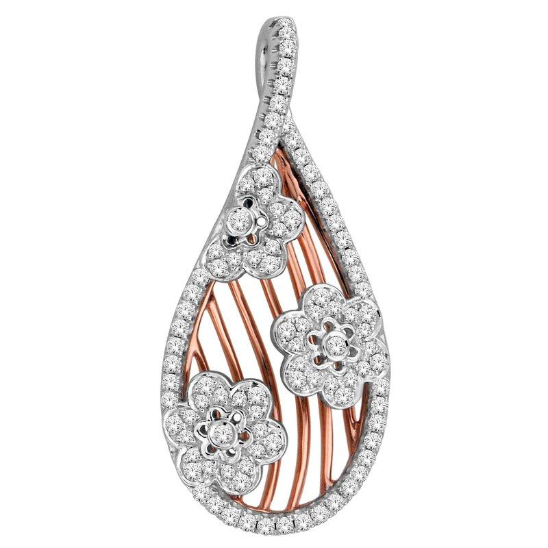 Isadora Floral Diamond Drop Pendant