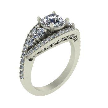 Vintage Diamond Engagement Setting