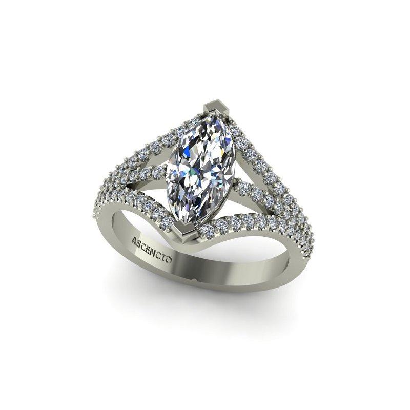 Ascencio Designs Modern Marquise Ring