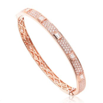 Eternity Diamond Bangle Bracelet 18KR