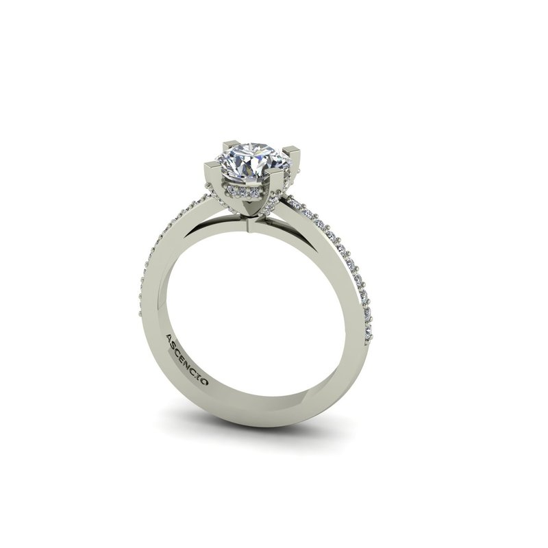 Ascencio Designs Modern Cathedral Engagement Ring