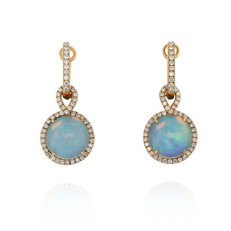 Yael Designs Opal Dangle Earrings 18KR