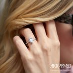 ArtCarved Layla Pear Halo - Setting Only