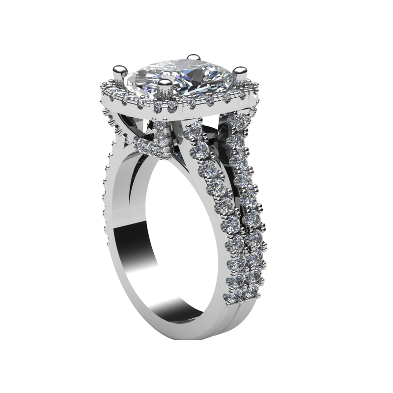 Daniels Designs Diamond Halo Engagement Ring