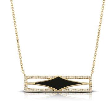 Geometric Gatsby Necklace 14KY