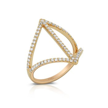 Modern Open Diamond Ring 18KR