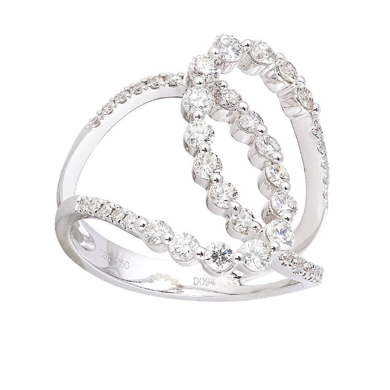 Sophia by Design Interlocking Diamond Ring 18KW