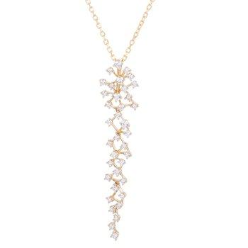 14K Yellow Diamond Necklace