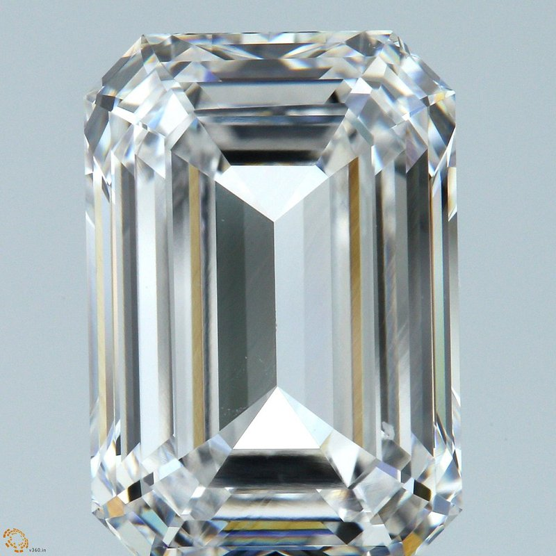 HPHT Diamond Emerald Cut 4.10 E VVS1