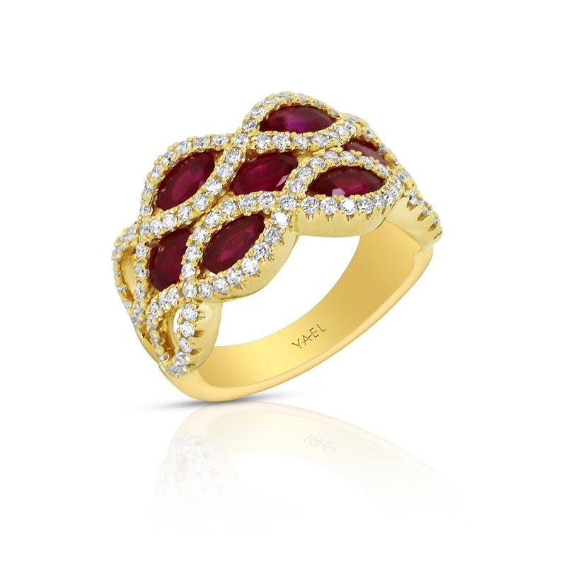 Yael Designs Infinity Ruby Band 18KY