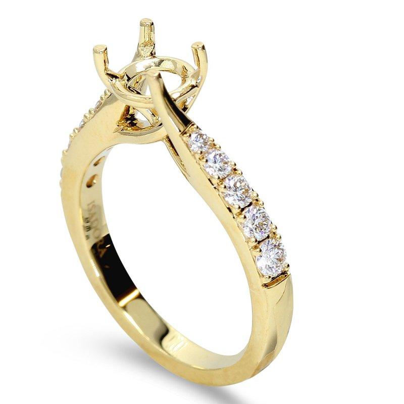 Isadora Twist Diamond Engagement Setting 18KY