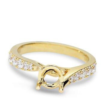 Twist Diamond Engagement Setting 18KY