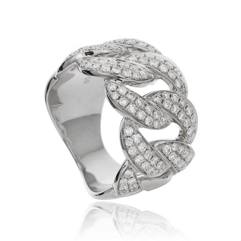 London Gold Designs Diamond Link Band 18KW