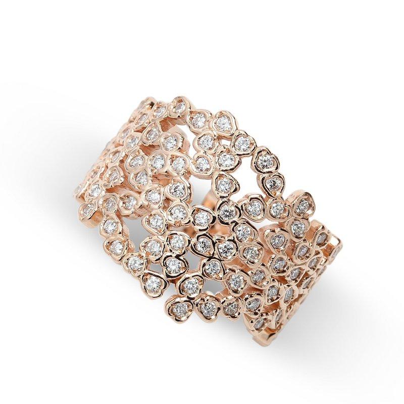 Lunaria Wide Diamond Set Band 14KR