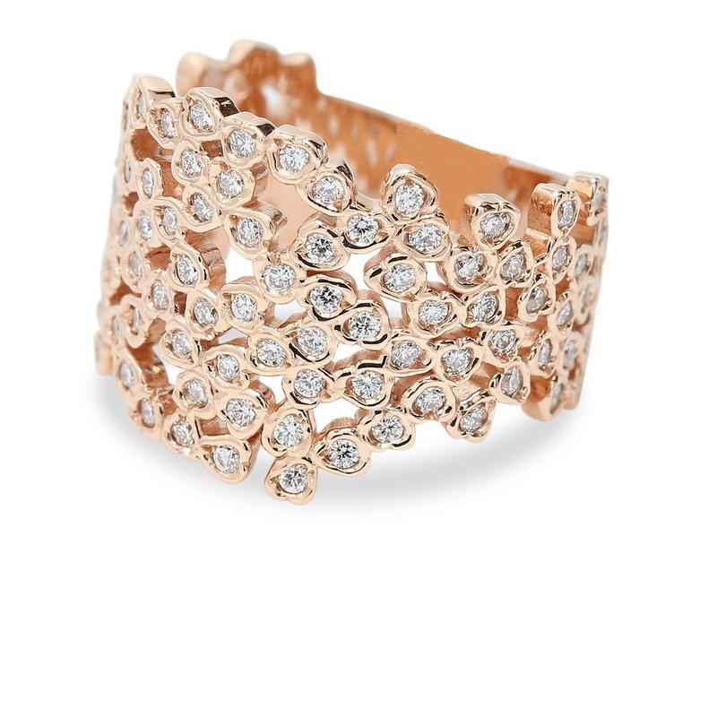Wide Diamond Set Band 14KR