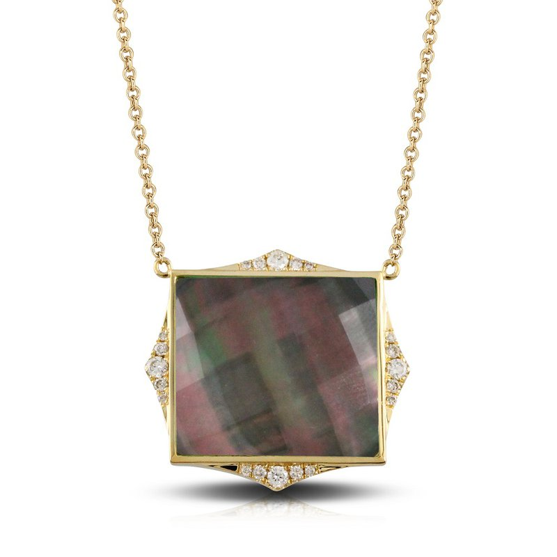 Doves Square Luna Necklace