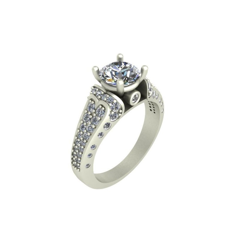 Isadora Modern Engagement Ring - Setting Only