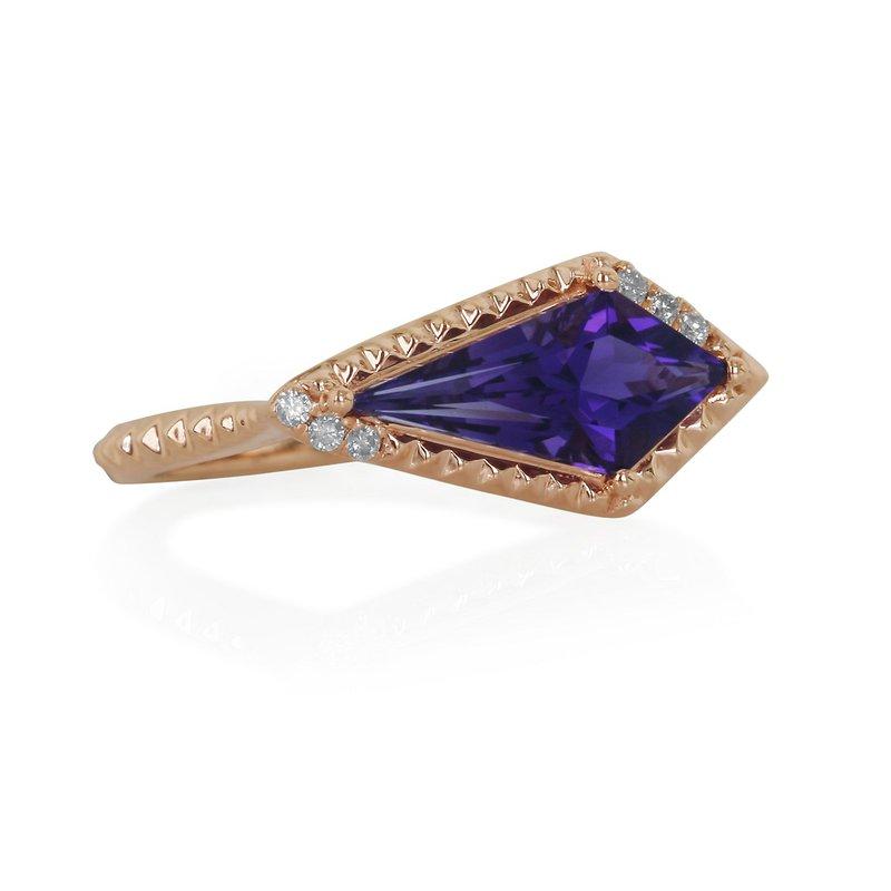 Yael Designs Amethyst & Diamond Ring 14KR