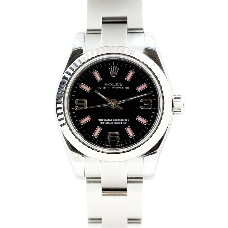 Rolex Pre-Owned Watches Nondate Steel & 18K Pink Markers 176234