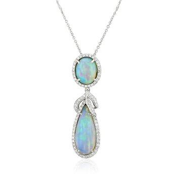 Polyanthes Opal Pendant 18KW