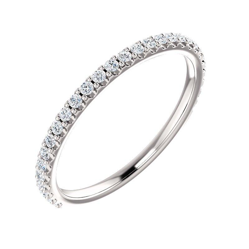Gallery Designs Prong Set Diamond Band 14KW