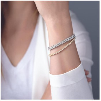 Diamond Tennis Bracelet 5cttw 14KY