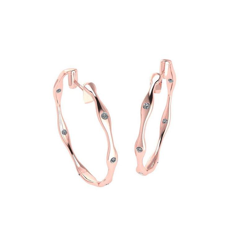 Isadora Diamond Hoop Earrings 18KR