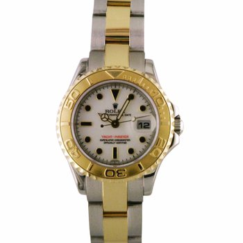 Rolex Lady Yachtmaster Steel & 18KY 169623