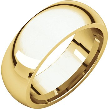 14K Yellow 7mm Comfort Fit Band