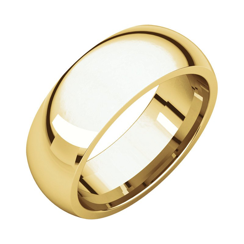 Gallery Designs 14K Yellow 7mm Comfort Fit Band