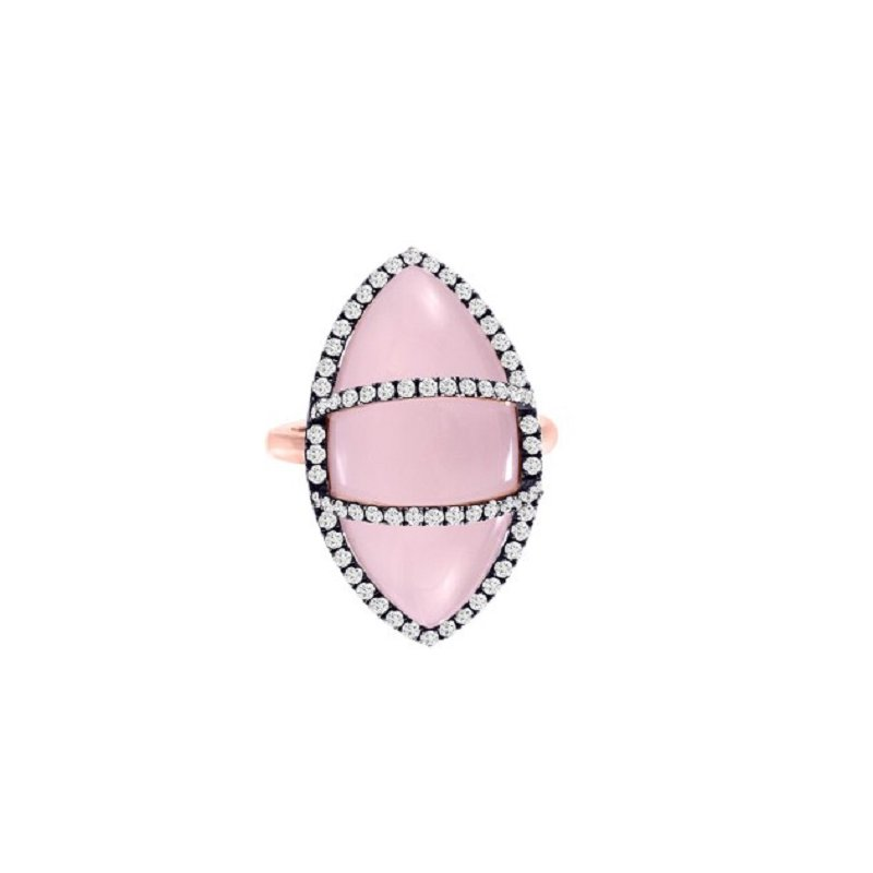 Meira T Pink Quartz Ring