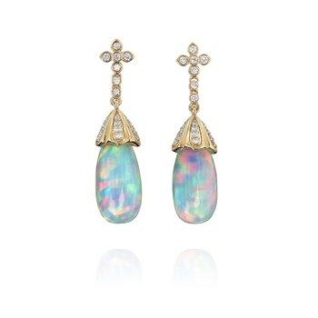 Opal Dangle Earrings