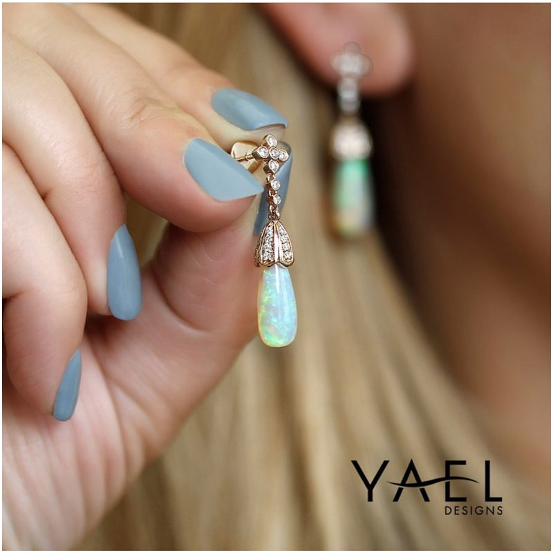 Yael Designs Opal Dangle Earrings