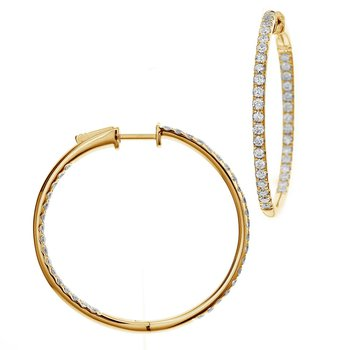 1.00ct Diamond Inside-Out Hoops 14KY