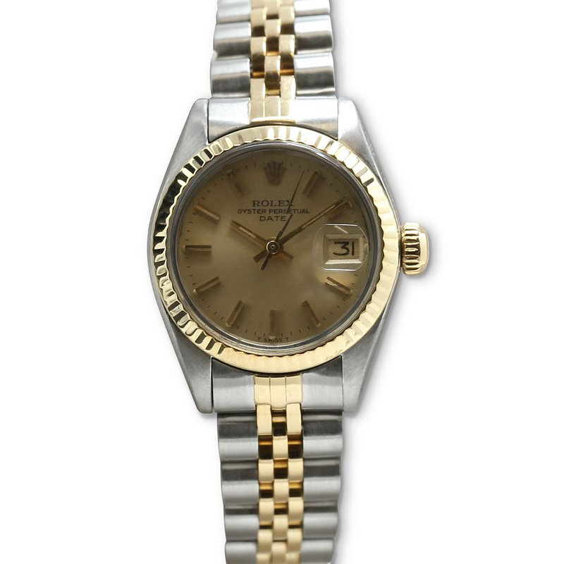 Rolex Pre-Owned Watches Lady Date Steel & 18K 6917