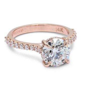 Shared-Prong Cathedral Engagement Ring
