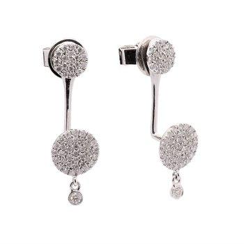 Front Back Diamond Earrings 14KW