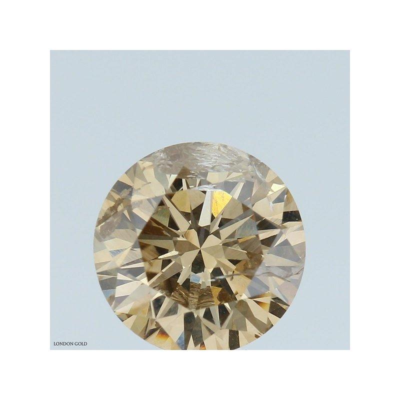 Colored Diamonds Round 3.23 Brown-I1