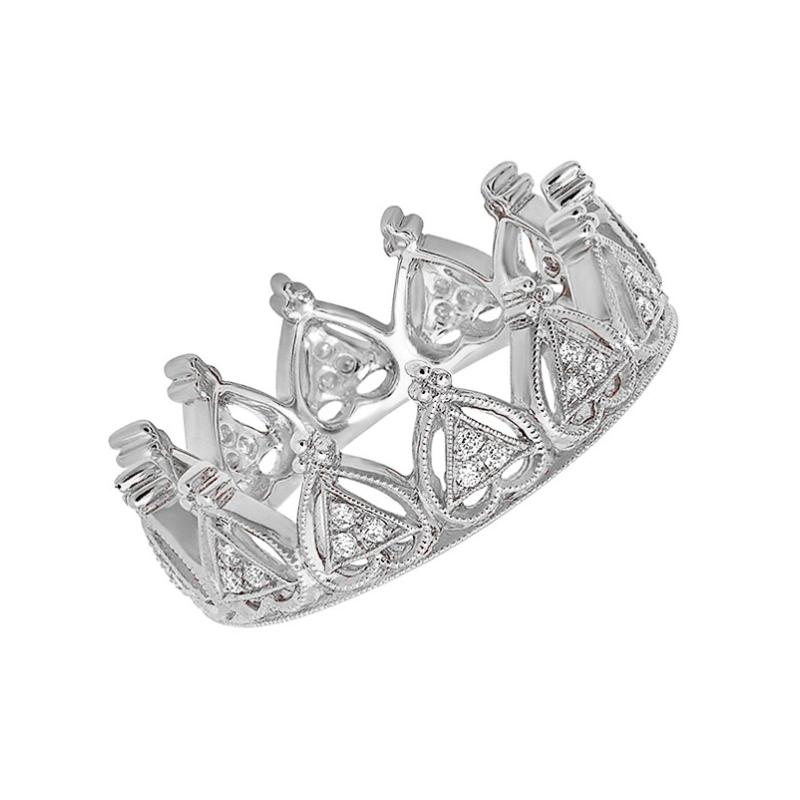 Beverley K Diamond Crown Ring 18KW