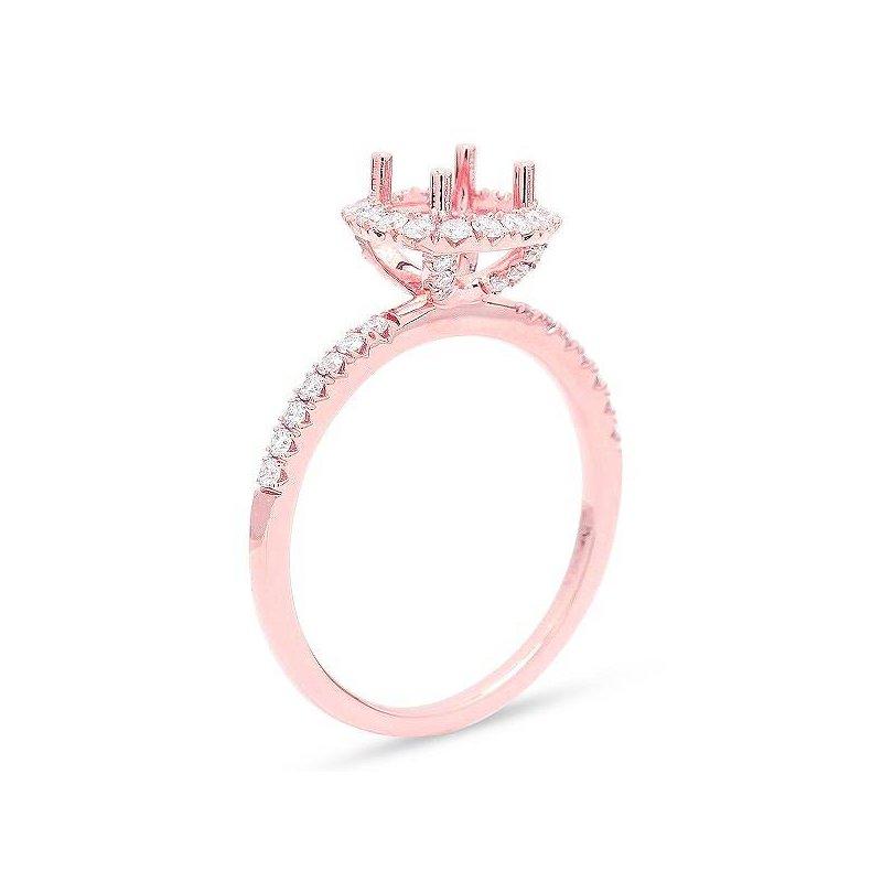Isadora Cushion Halo Engagement Ring Setting