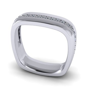 Square Men's Diamond Band - Custom Order