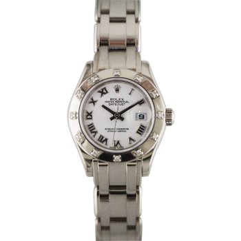 Rolex Lady Pearlmaster 18KW 80319