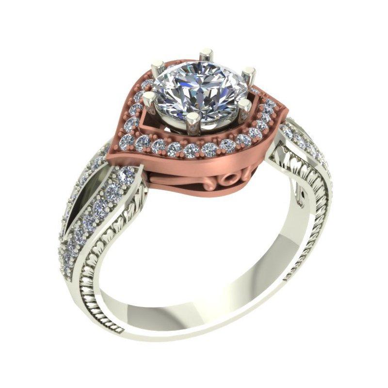 Isadora Rose Gold Halo Engagement Setting