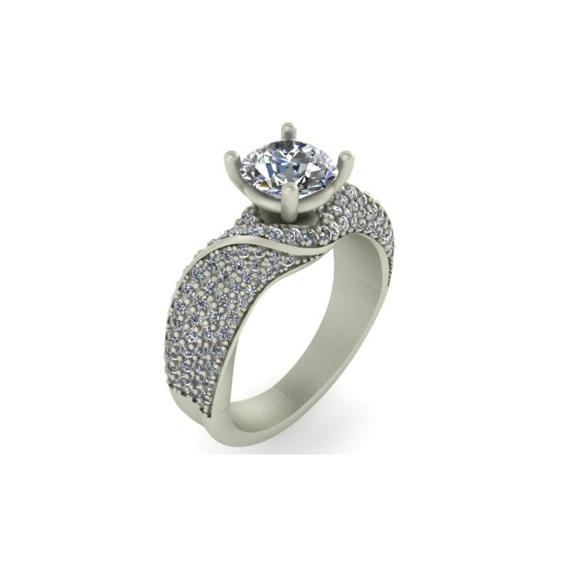 Isadora Pave Diamond Engagement - Setting Only