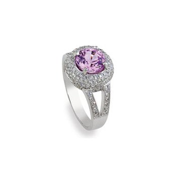 Pink Sapphire Ring 18KW