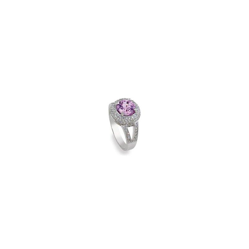 Yael Designs Pink Sapphire Ring 18KW