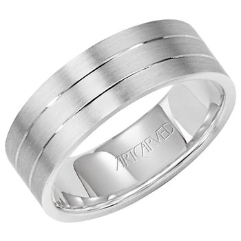 "14k White Gold ""Love Light"" Comfort Fit Wedding Band"
