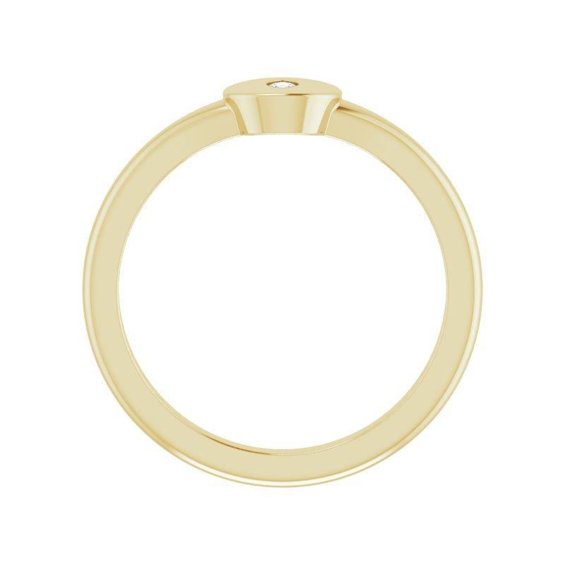 Gallery Designs 14KY Diamond Signet Ring